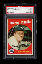 1959 Topps #10 Mickey Mantle PSA 6.5 Yankees