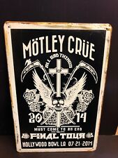 MOTLEY CRUE ALL BAD THINGS Concert Poster Vintage StyleSmall Metal Sign 20x30 Cm