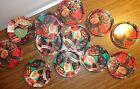 LOT OF 12 METAL PAINTED WINTER CHRISTMAS DECORATION COASTER