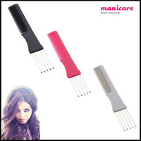 Hair Teasing Pin Comb Tail Salon Styling Tease Lift Gripper Back Combing Volume