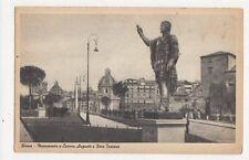 Roma Monumento a Cesare Augusto e Foro Traiano Italy Vintage Postcard 294a