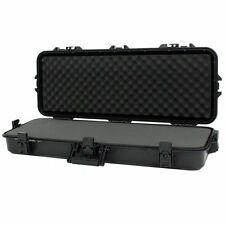 Tactical Rifle Gun Case Padded Heavy Duty All Weather Storage Hard Shell Plano