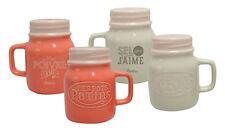 Salz & Pfeffer Set Salz Pfefferstreuer Keramik Vintage Retro Natives