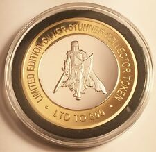 "2016 Templar Knight #2 43 mm ""SILVER STUNNER"" TOKEN/COIN, C.O.A. Only 500"