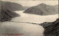 Lugano Switzerland Tessin ~1910 Monte San Salvatore Ponte di Melide Luganersee
