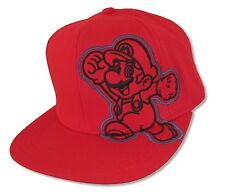 "SUPER MARIO ""MARIO SIDE IMAGE"" RED BASEBALL CAP HAT NEW OFFICIAL NINTENDO"