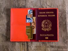 Custodia passaporto in pelle Corallo, portafogli, portapassaporto vuitton