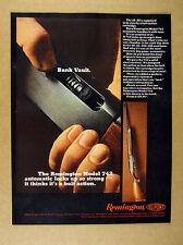 1967 Remington Model 742 Automatic Rifle phtoto vintage print Ad