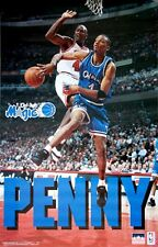 1995 Penny Hardaway vs Michael Jordan Orlando Magic Original Starline Poster