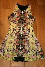 NEW! stunning TOPSHOP skater dress SIZE 10 pleat detail lined party occasion