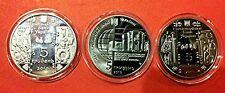 Ukraine Set of 3 x 5 UAH Coins: KOVAL # GONCHAR # KIEV MEREDIAN #  HRYVNIA