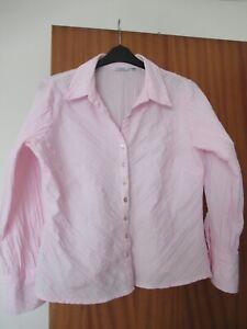 Size 18 J.Taylor Pink Crinkle Long Sleeve Blouse