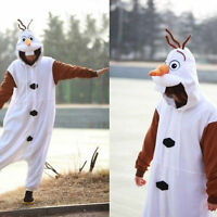 NEW Adult Costume Kigurumi Pajamas Cosplay Onesie Pyjamas Disney Frozen Olaf