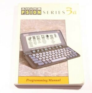 Psion Series 3a Programming Manual  V1.0 July 1993 In English