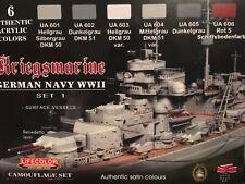 c LIFECOLOR CS.09 __ 6 Colori Acrilici- KRIEGSMARINE - German Navy WWII - Set 1