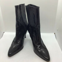 Womens Size 6 Black Leather Stuart Weitzman Russell And Bromley Ankle Boots