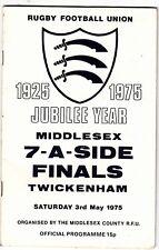 Middlesex Sevens finales 1975 @ Twickenham