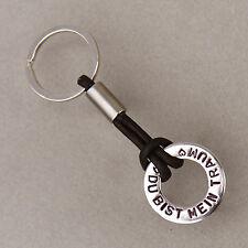 Schlüsselanhänger Ring graviert als Geschenk mit Wunschtext und Gravur