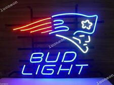 Bud Light SUPER BOWL CHAMPS NEW ENGLAND PATRIOTS Beer Bar Neon Sign FAST SHIP