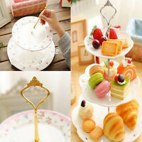2 3 Tier Cake Plate Stand Cupcake Fittings Silver Golden Wedding Party Cocktail5