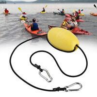 Drift Anchor Tow Nylon Rope Throw Line With EVA Buoy Steel Clips Kayak Accessory