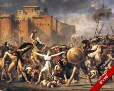 INTERVENTION OF SABINE WOMEN ROMAN HISTORY PAINTING ROME ART REAL CANVAS PRINT