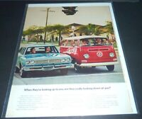 """VW VAN  LARGE MAGAZINE AD  """"ARE THEY REALLY LOOKING DOWN AT YOU?""""  1960s   CPICS"""