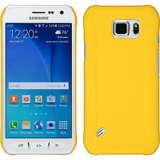 Custodia Rigida Samsung Galaxy S6 Active - gommata giallo + pellicola protettiva