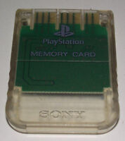 Clear Genuine Sony PS1 Memory Card PlayStation 1 1MB Original