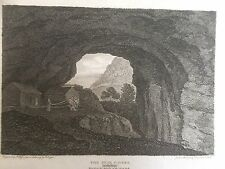 1805 Print of a View in the Peak Cavern, near Castleton, Derbyshire