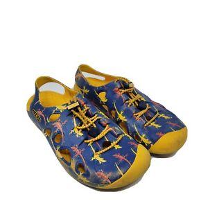Keen Rio Sandales Taille 4 Bleu Jaune Eau Chaussures Imperméable Enfants Jeune