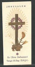 Holy card antique relics de Tierra Santa santino image pieuse estampa