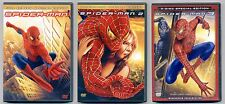 Spider-man 1 2 3 trilogy DVDs PG-13 superhero movies Tobey Maguire Kirsten Dunst