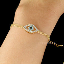 ~Baby Blue Evil Eye made with Swarovski Crystal Amulet Nazar Religious Bracelet