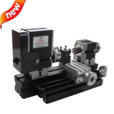 Mini Metal Lathe Soft Metalworking Woodworking DIY Model Making 60W 12000rpm