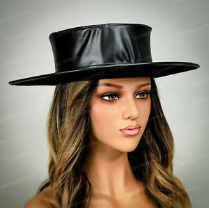 Black Steampunk Costume Top Hat Halloween Party Head Gear For Men Adult Women