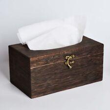 Useful Wooden Retro Tissue Box Cover Paper Napkin Holder Case Home Car Decor Us
