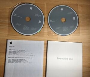 iMac OSX and Application CD-ROMs and Booklet Software