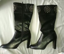 Ladies boots size 6, black, calf length (brand new)