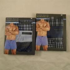 Perry Ellis Portfolio Premium Woven Boxer 6 Medium Underwear Nwt $72 Free S&H Dx