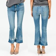 """RAG & AND BONE JEANS HIGH RISE CROPPED DISTRESSED CROP 10"""" FLARE VALE 28 (NEW)"""