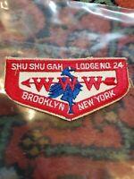 OA Shu Shu Gah Lodge 24,1950s Blue Heron Bird Flap  Brooklyn New York ny