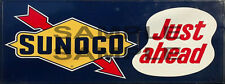 WEATHERED BUILDING GAS STATION BILLBOARD SUNOCO SIGN HO O N SIGN DECAL 1.5 X 4