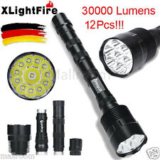 XLightFire 30000LM 12x XML-T6 LED Taschenlampe 18650 Superhelle Flashlight DE