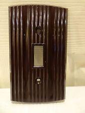 Vintage NOS Roger Deluxe Brown Bakelite Single Gang Light Switch Plate Cover