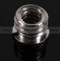 "1/4""-3/8"" Adapter Screw Nut for Flash Holder Bracket Tripod Ballhead Light Stand"