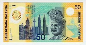 Malaysia 50 Ringgit Commemorative UNC In Original Folder P-45 1998 Polymer Notes