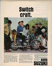 Original 1967 Suzuki X-6 Hustler Motorcycle Magazine Ad - Switch Craft