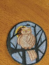 Embroidered Halloween - Owl in Tree