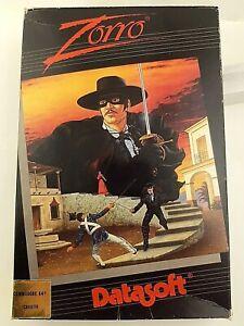 Zorro Commodore 64 Game - Datasoft Cassette 1985 Original Pack with Manual